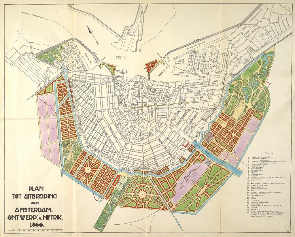 Uitbreidingsplan van Van Nftrik 1866